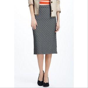 Anthro Maeve skirt pencil knit intarsia geotile M
